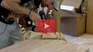 Vogelhaus selber bauen Fensterladen am Haus monieren