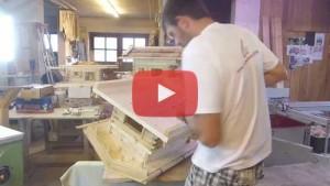 Vogelhaus bauen Haus mit Boden verschrauben