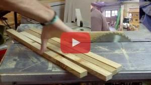 Vogelhaus bauen Leisten zuschneiden