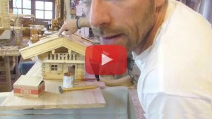 Vogelhaus bauen Windfang montieren