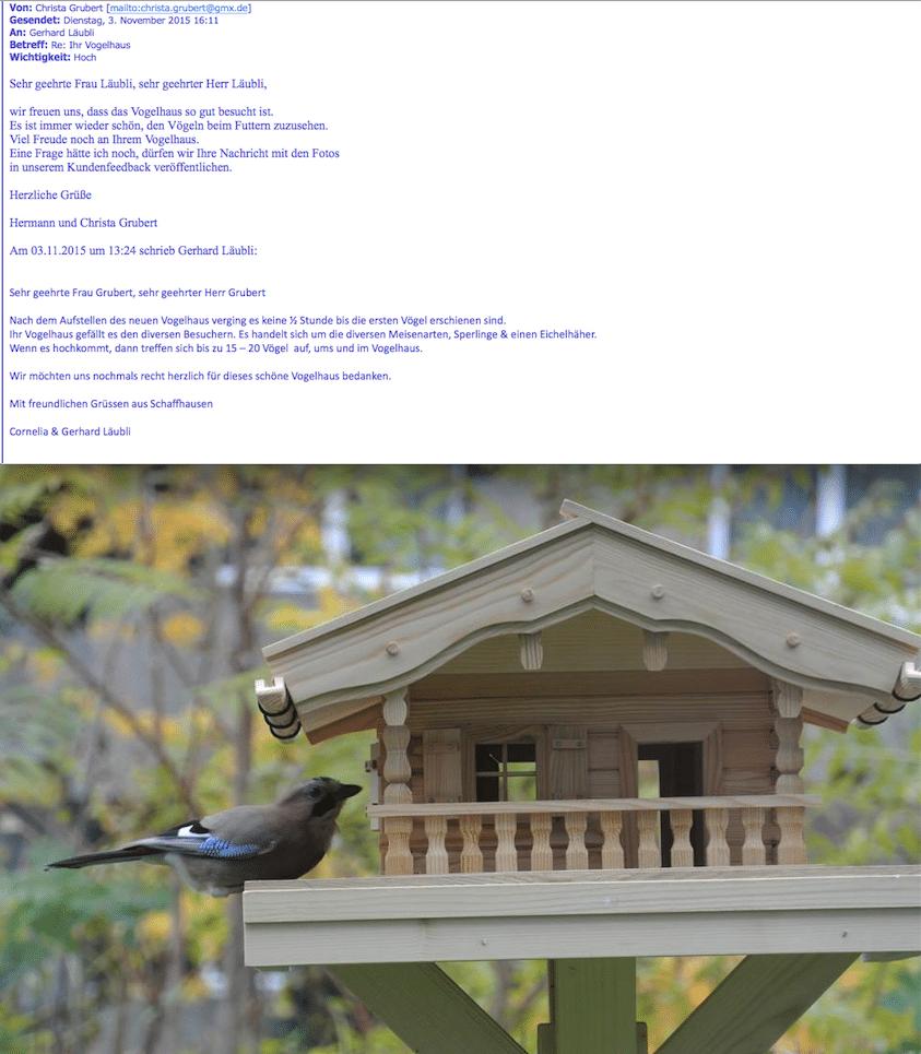 Vogelhaus Testimonial